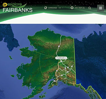 Searching for aurora in Fairbanks, which is just 200 miles below Arctic Circle? (Source: www.explorefairbanks.com)