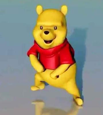 Winnie  Pooh se hace viral en las redes sociales baiando