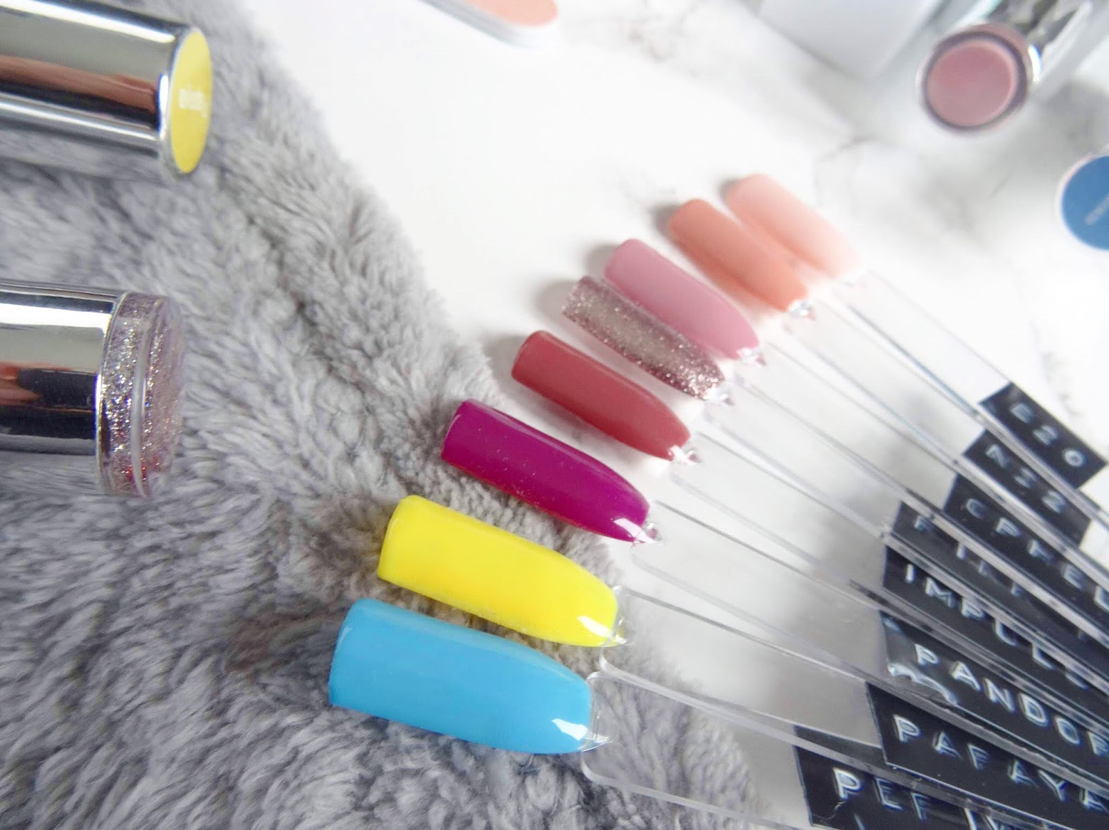 The Gel Bottle Nail Swatches