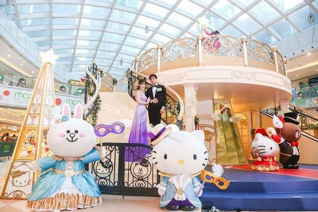 【聖誕節】新都城中心上演華麗舞會 「Hello Kitty x LINE FRIENDS Christmas Masquerade」