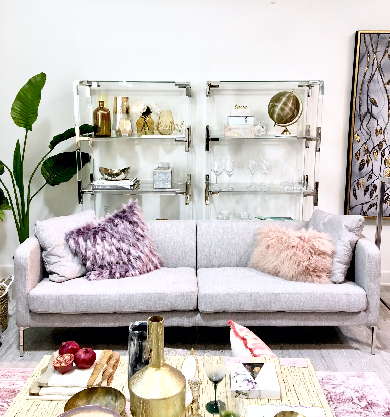 Homesense - the art of entertaining - harlow and thistle - pink and grey
