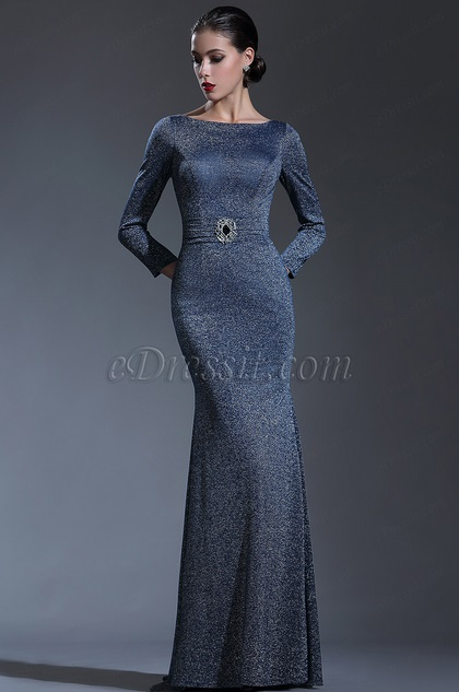 8479ce8186e edressit long sleeves midnight blue forma evening gown · edressit black  sequin lace formal ...
