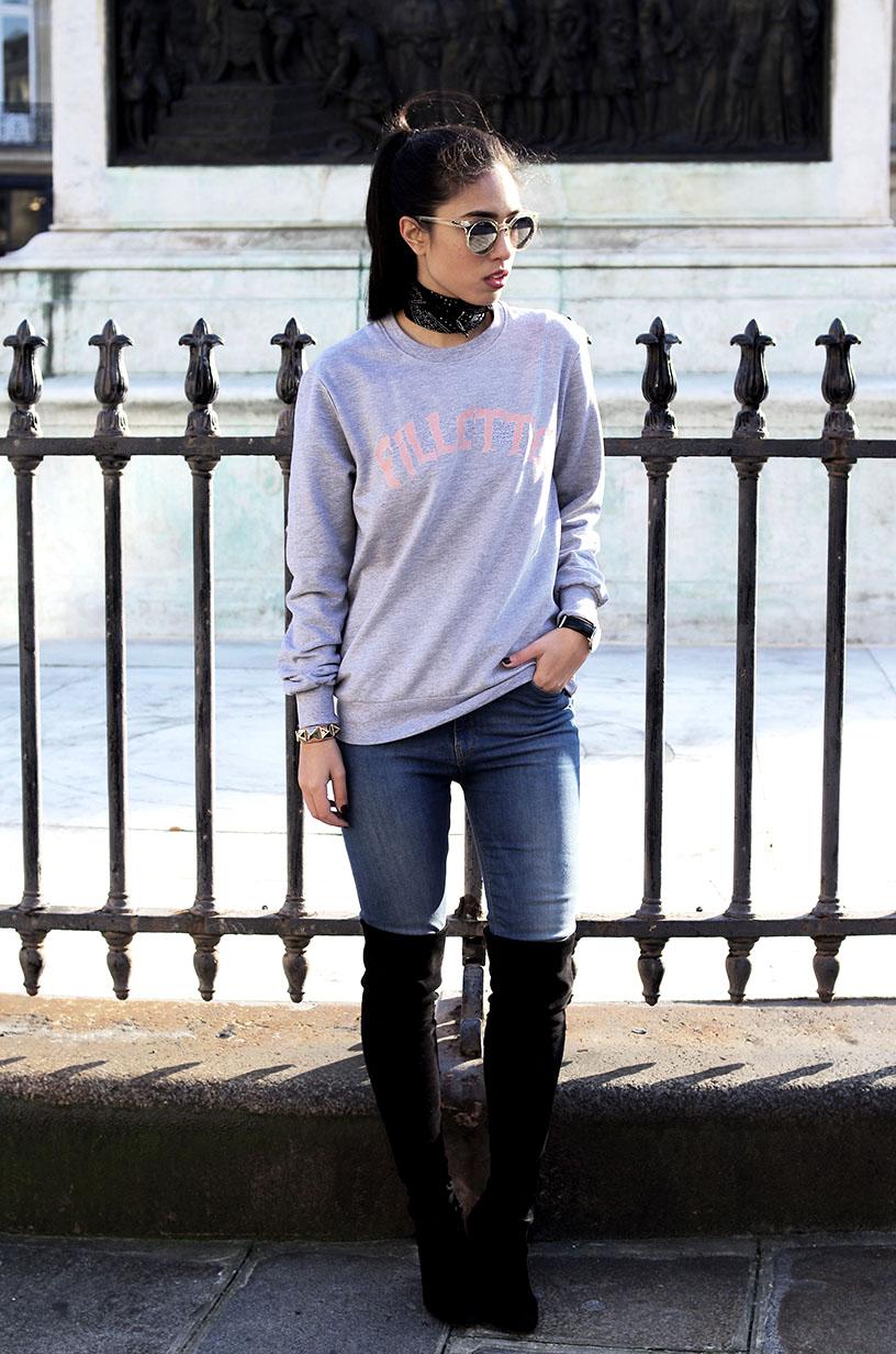 Elizabeth l Fillette Teessue sweatshirt outfit concours blog mode l THEDEETSONE l http://thedeetsone.blogspot.fr