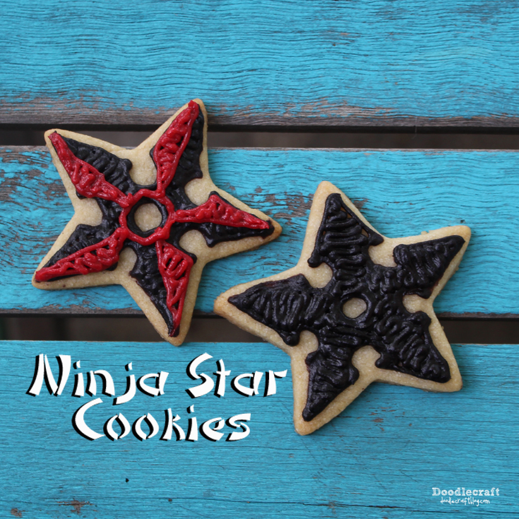http://www.doodlecraftblog.com/2015/06/ninja-star-sugar-cookies.html