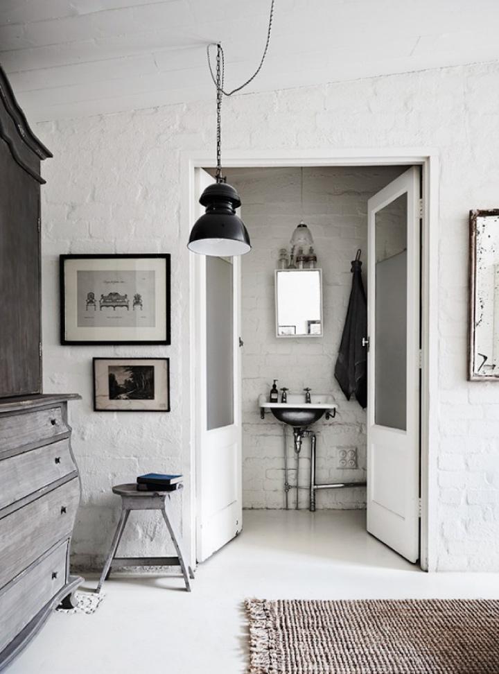 Un monolocale total white a Melbourne  Blog di arredamento e interni ...