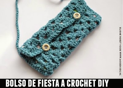 Bolso de Fiesta Bandolera Crochet