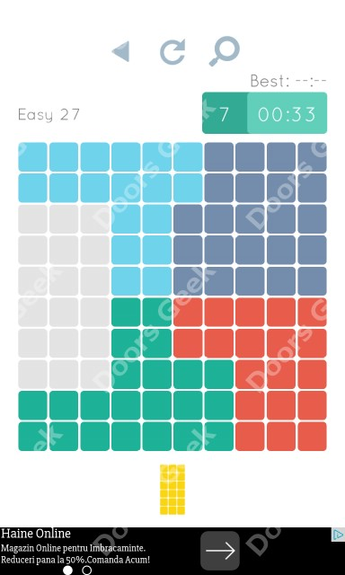 Cheats, Walkthrough for Blocks and Shapes Level 27
