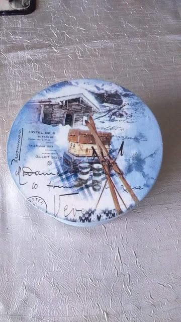 Inspiracje ze świata przyrody – pudełko z łuby w zimowej szacie :)