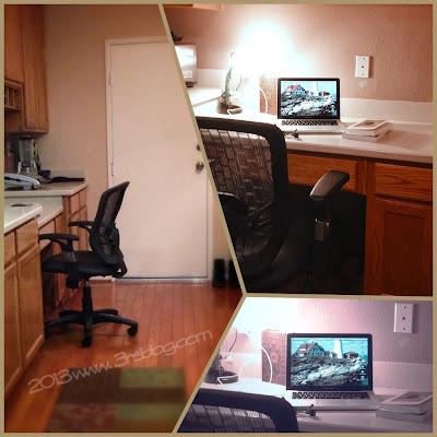 kitchen desk collage
