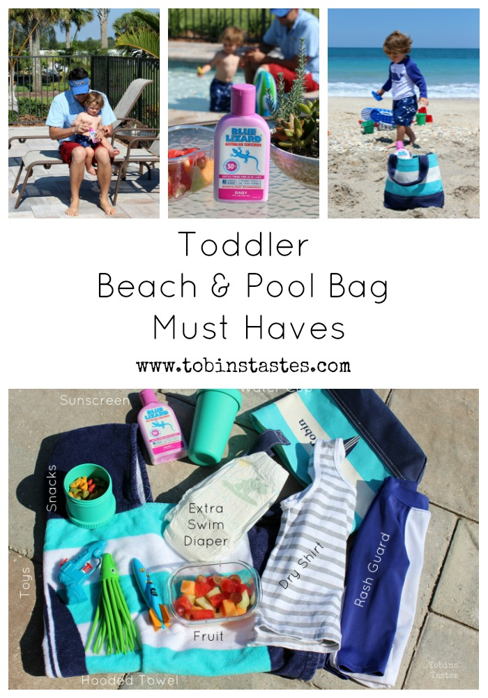 Tobins' Tastes: Toddler Beach & Pool Bag Must Haves
