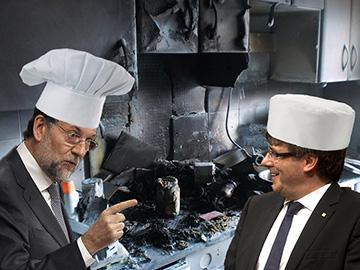 el villano arrinconado, humor, chistes, reir, satira, Rajoy, Puigdemont