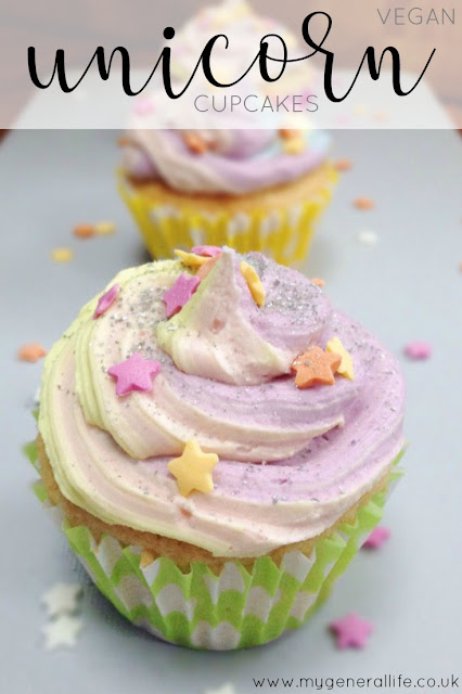 Why not impress your friends with these delectable, vegan friendly unicorn cupcakes? Too cute to pass up!