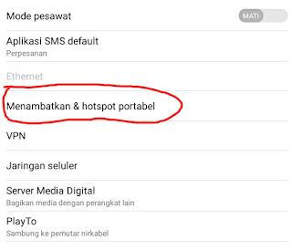 Cara Mengaktifkan Wifi Hostpot di Android