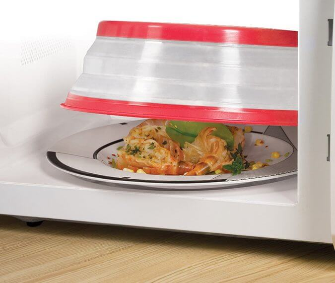 29 Life-Saving Kitchen Inventions We Wished We Had In Our Own House - Collapsible Microwave Cover