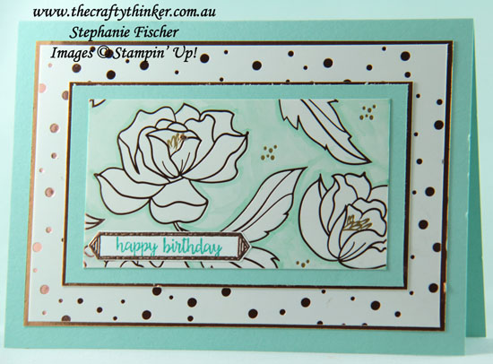#thecraftythinker, #saleabration, #cardmaking, #stampinup, Sale-A-Bration, Springtime Foils, Stampin' Up! Australia Demonstrator, Stephanie Fischer, Sydney NSW