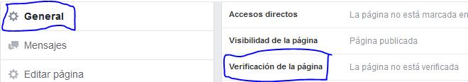 Como verifico mi pagina de Facebook con insignia