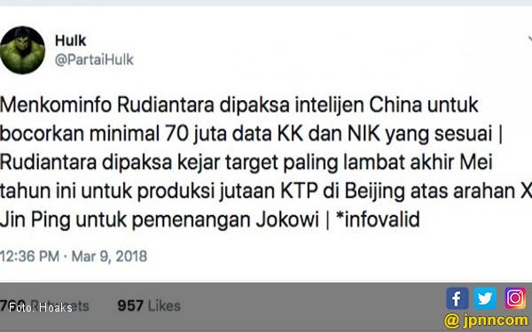 Difitnah @PartaiHulk, Menkominfo Rudiantara Tak Tinggal Diam, Yang dilakukannya pasti Bikin Pelaku 'Gemetar'