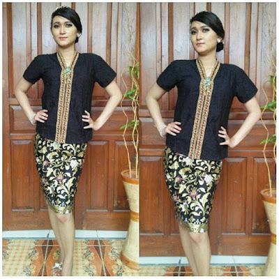 Model Kebaya Batik Velisa Hitam