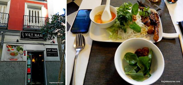 Restaurante vietnamita Viet Nam, no Barrio de Las Letras, Madri