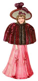 dress fashion victorian clipart image digital download