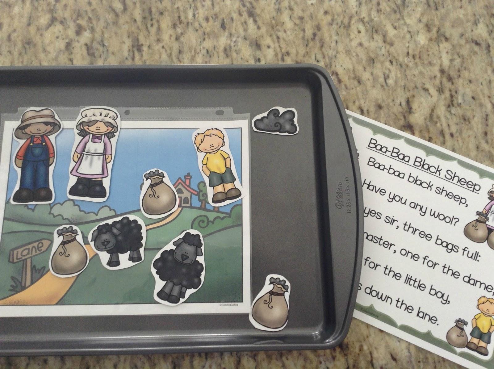 Teachermomplus3 Preschool Nursery Rhyme Activities Baa Baa Black Sheep