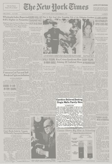 Gambino crime family dominates, New York Times story says
