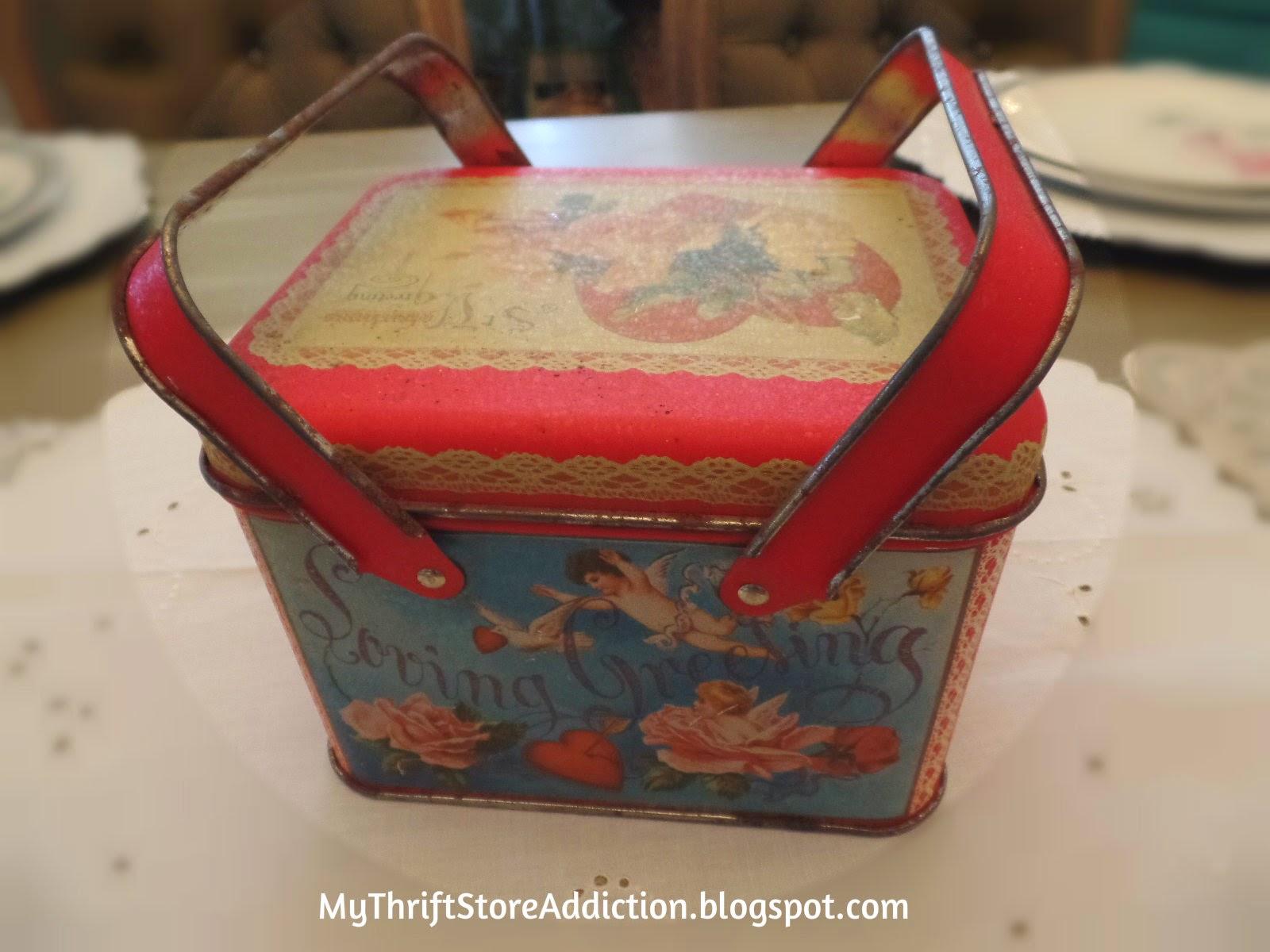 Vintage valentine tin