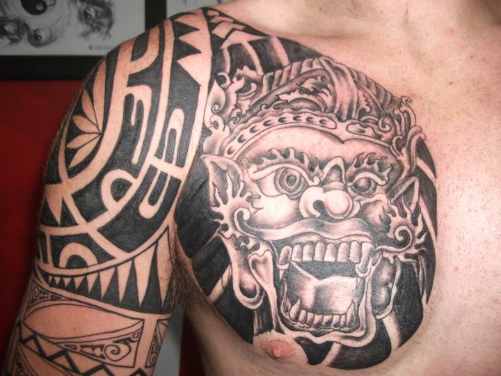 11 Tato Barong Bali Di Tangan Dan Punggung Tato Keren