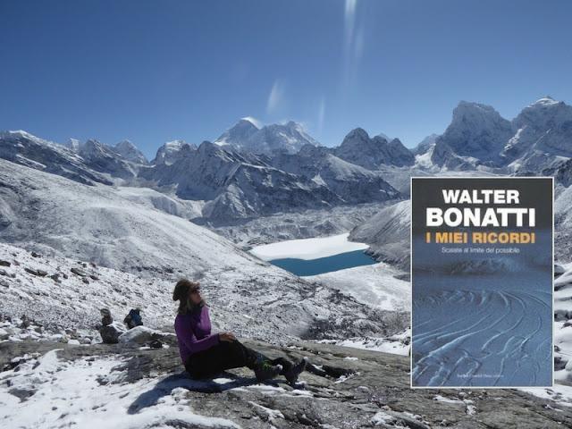 I ricordi di Walter Bonatti in un libro. Io al Gokio lake in Nepal