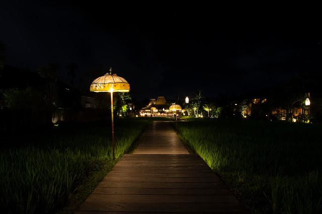 Alaya Ubud resort-Bali-Di notte