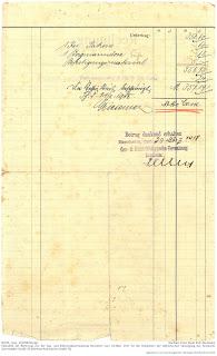 Bensheimer Häuser - Elektrisches Licht in Bensheimer Häusern, Rechnung über die Neuverlegung von elektrischen Leitungen und Anschluss an das Bensheimer Stromnetz aus dem Jahre 1917.