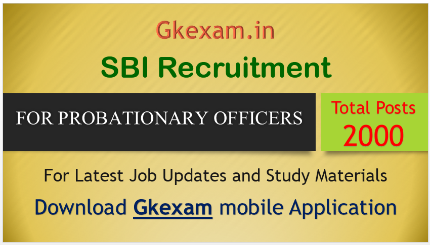 SBI 2000 Probationary Officers