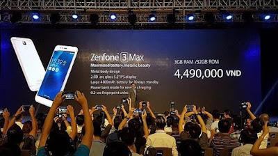 Spesifikasi Zenfone 3 Max