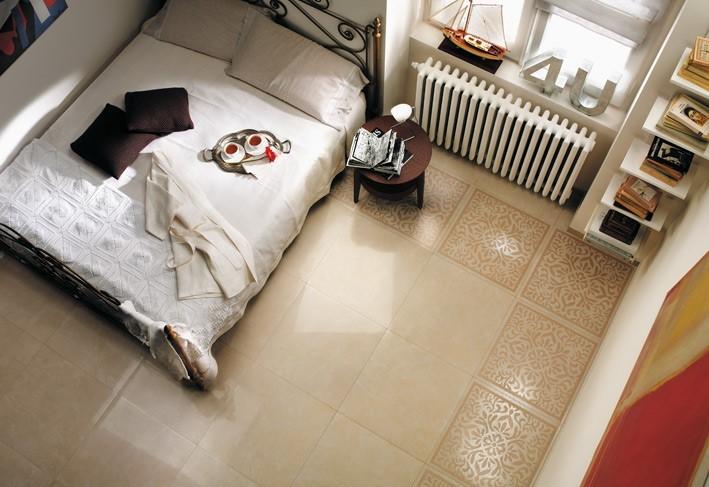 Phòng ngủ nên sử dụng Mẫu gạch Đồng Tâm màu sắc sáng để tạo ra cảm giác thoải mái cho người dùng