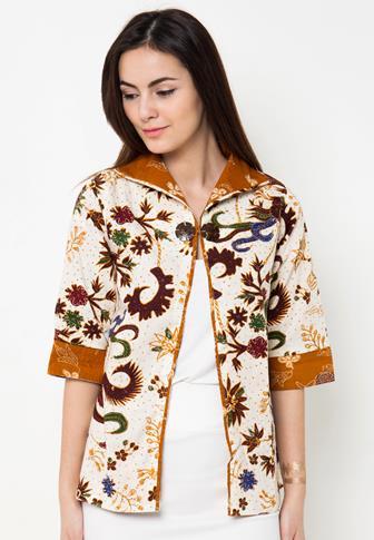 Baju Bolero Batik Lengan Panjang Terbaru