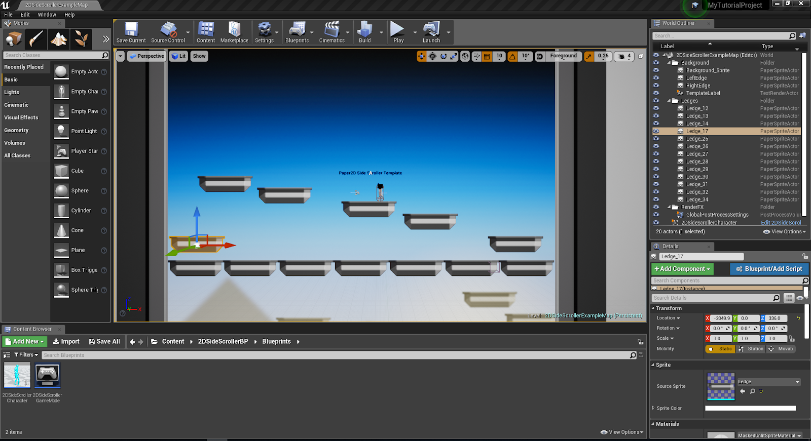 My First 2D Game in UE4: Getting started | OnlineDesignTeacher