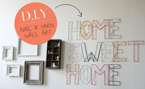 DIY: letras decorativas con clavos