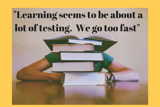 Learning - it's not just about testing my friend