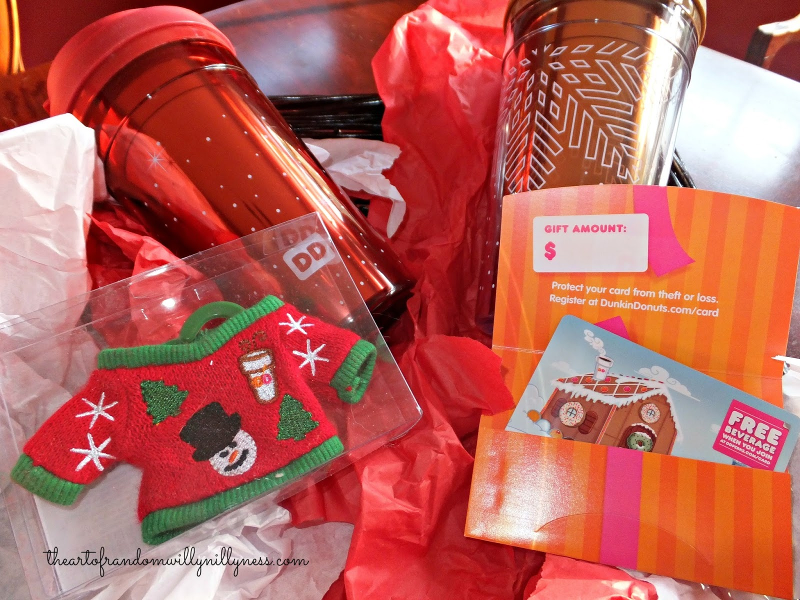 Dunkin Donuts Holiday Travel Mugs