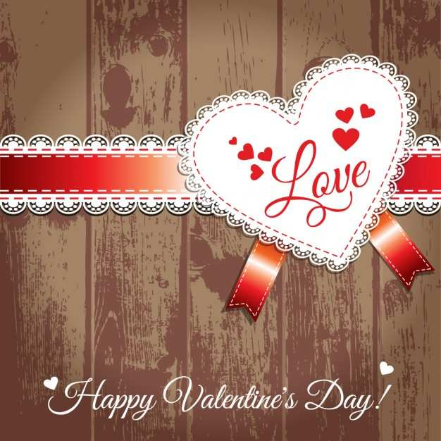 Valentine Day wood image