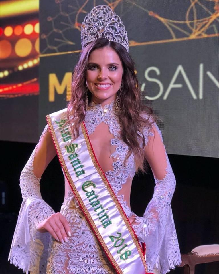 Candidata Miss Universo 2018 >> Débora Silva é a Miss Santa Catarina 2018