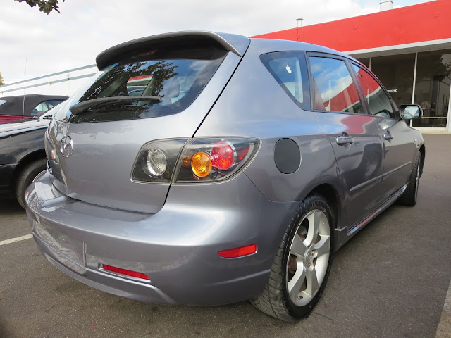 Collision repairs complete on Mazda 3 at Almost Everything Auto Body