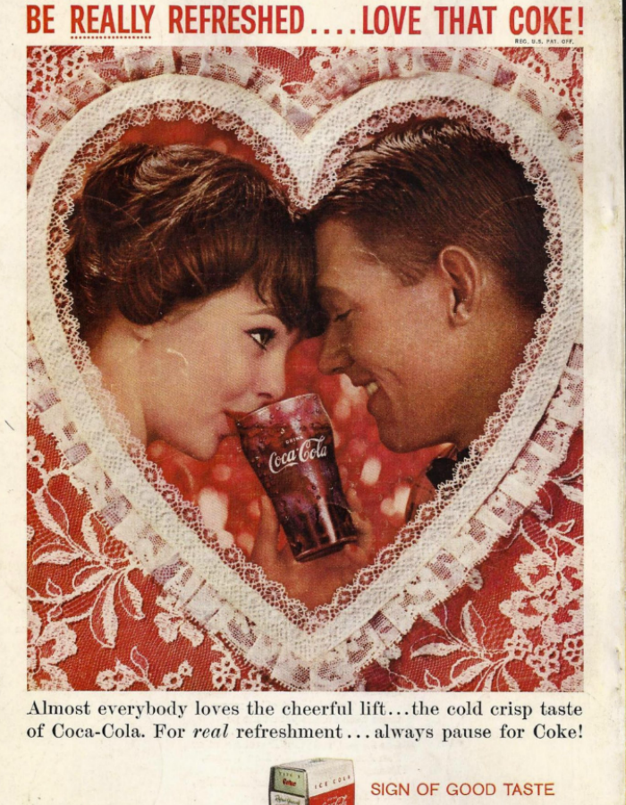 Coca Cola, Valentine's Day, Old Ads, Vintage Ads