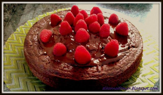 tarta chocolate y frambuesa