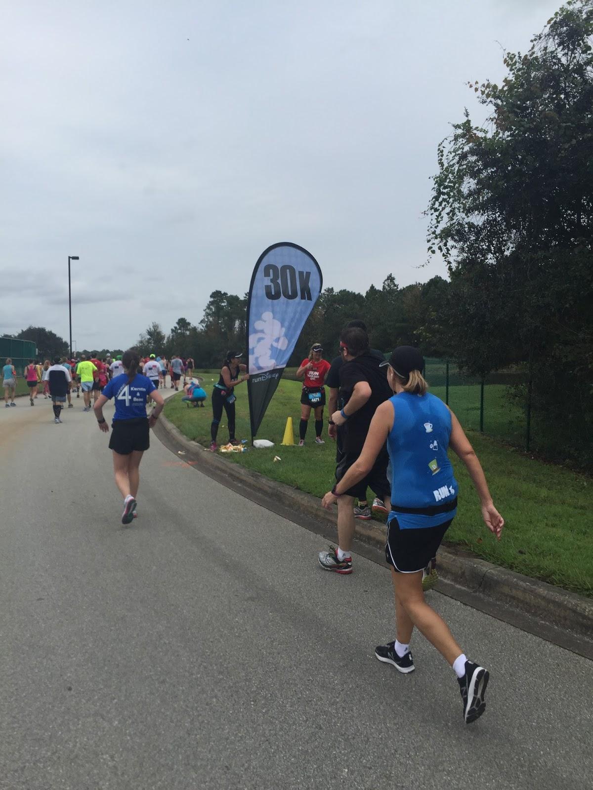 Dopey Challenge Mickey Marathon 2016 30k mark