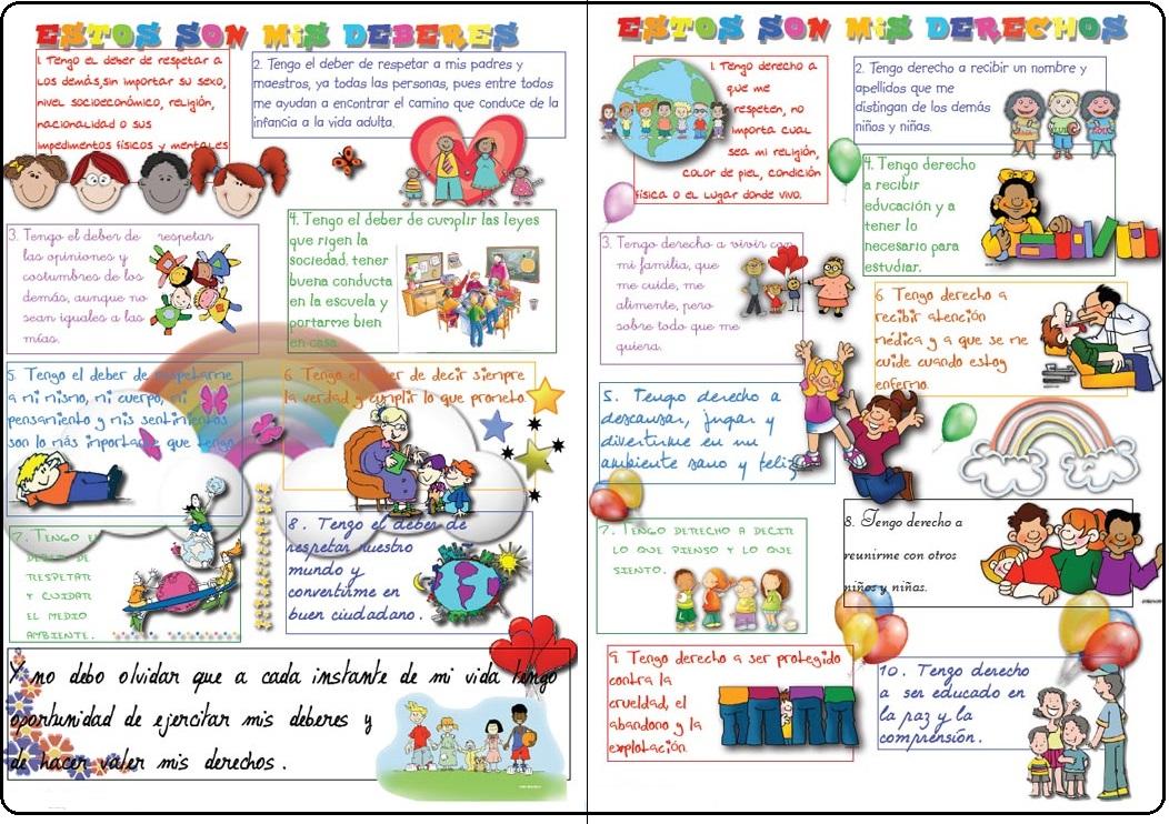 NiÑos Y Deberes Para Colorear: DERECHOS Y DEBERES DE LOS NIÑOS