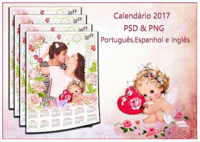 Calendário 2017 Romântico