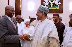 Buhari and Boss Mustapha
