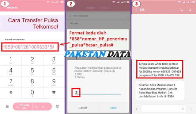 Cara Transfer Pulsa ke Sesama Telkomsel Melalui Dial *858#