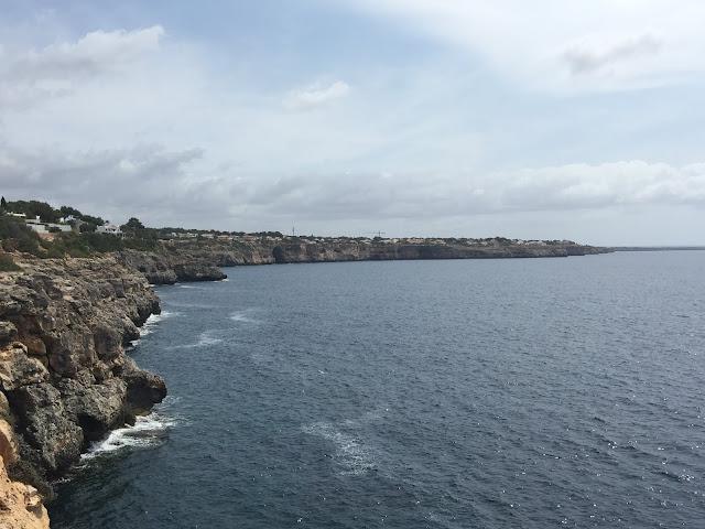 Vista da Ponta de Cala Pi, Mallorca.